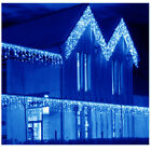 US Blue 13-130FT LED Fairy Icicle Curtain Light Party Indoor Outdoor Xmas Decor