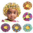 Baby Kids Floral Adjustable Night Sleep Cap Stretch Satin Hair Bonnet Turban Hat