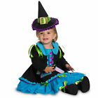 Toddler Girls Patchwork Blue Witch Halloween Classic Costume Dress Hat 2-4T