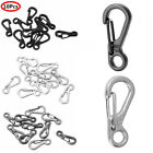 10 Mini SF Metal Carabiner Clips Tiny Snap Hooks Spring Clasp Keychain Paracord