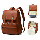 PU Leather Baby Nappy Diaper Bag Backpack Changing Pad Insulation Cosmetic bag