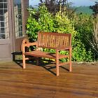 2 Seater 120cm Wide Traditional Seater Hardwood Garden Patio Bench