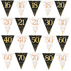 Triangle Flag Bunting Fizz Happy Birthday Garden Party Bunting Home Decoration