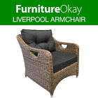 Liverpool Wicker Rattan Outdoor Lounge Chair Patio Garden Sofa Furniture