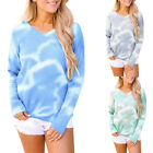Women Fashion Casual Long Sleeve Tie-dye Tops Ladies Sweatshirt Pullover Sweater