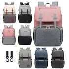USB Diaper Backpack Baby Nursing Nappy Bag Large Capacity Maternity Travel Bag