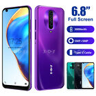 "2020 New Android 10 Cell Phone 6.8"" Cheap Unlocked Smartphone Dual Sim Quad Core"