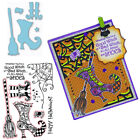 Happy Halloween Clear Stamps with Cutting Die Diy Scrapbooking Decor Cards