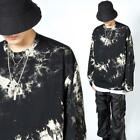 NewStylish Mens Unique crack patterned long sleeve t-shirts