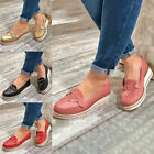 Womens+Casual+Flats+Platform+Pumps+Shoes+Slip+On+Loafers+Shoes+Sneaker+Round+Toe