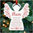 Memorial Christmas Tree Decoration Personalised Mum Dad Nanny Heart Angel Star