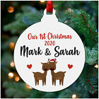 Our First 1st Christmas Together PERSONALISED Girlfriend Boyfriend Decoration
