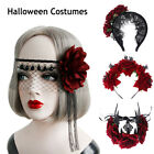 Party Costumes Wedding Garland Hair Wreath Halloween Headbands Red Rose Crown