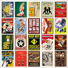 Vintage Bar Metal Tin Signs Retro Home Bar Kitchen Man Cave Wall Poster Decorate