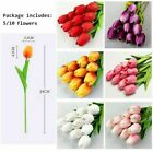Artificial Tulip Flowers Bouquet Real Touch Plant Home Party Wedding Decoration