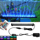 5050 RGB LED Aquarium Fish Tank Waterproof Air Bar Bubble Lights Color Changing