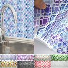 Kitchen Tile Sticker Mosaic Decor Waterproof Rubber Home Diy 3d Wall Decors