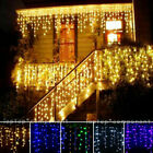 Twinkle LED Light Icicle Curtain Lamp Christmas Garland New Year String Party US
