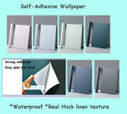 Self Adhesive Wallpaper Waterproof Linen Real Texture 10m Bedroom Dining Laundry