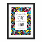 Who+Cares+Scotland+Quote+Crazy+Love++Tartan+Framed+Wall+Art+Print+18X24+In