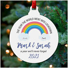 Personalised Family Lockdown Christmas 2020 Decoration Ornament Rainbow Bauble