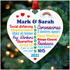PERSONALISED Lockdown Christmas Decorations 2020 Family Lockdown Memories Bauble