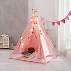 Large Teepee Canvas Children Indian Tent Kids Wigwam Indoor Outdoor Play House