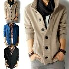 Sweater Mens Thick Cardigan Jacket Coat Long Sleeve Button Knitted Winter