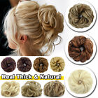 Real Thick Curly Messy Bun Hair Piece Scrunchie Updo as Human Hair Extensions US