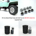 Rc Car Metal Wheel Hubs With Soft Tyre For Mn Wpl Model Car Upgrade Parts Bau