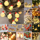 Snowman LED String Fairy Light Snowflake Christmas Xmas Tree Hanging Party Decor
