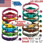 Adjustable Pet Collar w/Bell Extra Small Camo Pet Cat Dog Puppy Colorful Collars