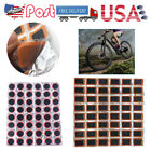 Rubber Puncture Patches Bicycle Bike Tire Tyre Tube Repair Cycle Patch Kit 48pcs