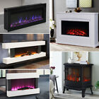 Electric Digital Flame Fireplace Glass Fire Insert/Wall Mount Designer 34