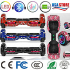 """6.5"""" LED Bluetooth Hoover Board Self Balancing Electric Scooter Spider Bag UL"""