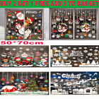 Uk Christmas Window Stickers Xmas Santa Removable Art Decal Wall Home Shop Decor