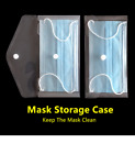 Face Mask Storage Portable Case Pouch Wallet Bag Protector Holder Box Keeper