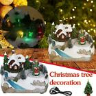 LED Lights Christmas Village House Luminous Figurines Xmas Music Gifts A8Y5