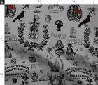 Halloween Medical Anatomy Steampunk Fortune Spoonflower Fabric by the Yard