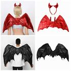 Adult Red Devil Wings Costumes with Headband/Black Dragon Wings Cosplay Outfit