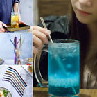 1pc Reusable 304 Stainless Steel Metal Drinking Straws Straight/bent Washable