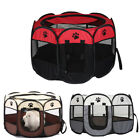 Novel Large Foldable Pet Portable Kennel Soft Fabric Dog Run Puppy Playpen Cage