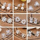Silver Stud Earrings Sparkly Stones Fashion Studs Womens Girls Hot Sale