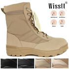 Wisstt Men Outdoor Tactical Ankle Boots Military Combat Army Desert Shoes Patrol