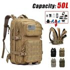 50L Large Capacity Military Tactical Oxford Backpack Waterproof Hunting Climbing