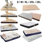 S-3XL Dog Bed Pet Mattress Orthopedic Puppy Pad Waterproof Pillow Cushion Cover