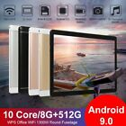 """10.1"""" Inch Wifi Tablet Android 9.0 Pad 8+512gb 10 Core Tablet Gps Dual Camera"""