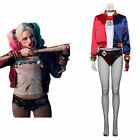 Suicide Squad Harley Quinn Cosplay Costume Jacket T-shirt Halloween Outfit