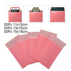 50 PACK PADDED BUBBLE LINED ENVELOPES MAILERS BAGS POSTAL WRAP SHIPPING BAG PINK