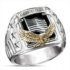 Fashion Eagle Punk 925 Silver Jewelry Rings For Men Party Ring Gift Size 6-13